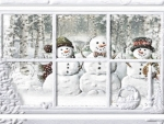 Snowmen And Window