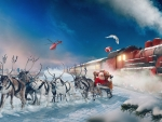 Santa meets Polar Express