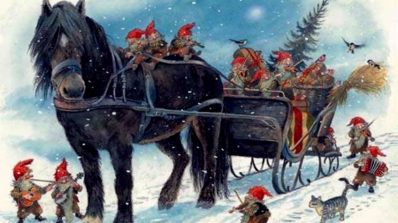 Merry Christmas Horses Animals Background Wallpapers On Desktop Nexus Image 2449759