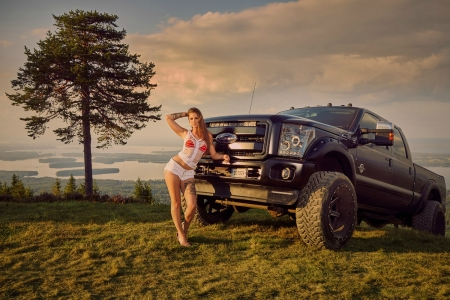 Miss Tuning 2019-August - Tree, Babe, Grass, Truck