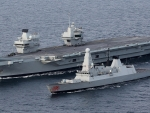 hms queen elizabeth and hms dragon