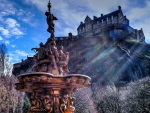 Edinburgh Castle, Ross Fountain, Princes Street Gardens