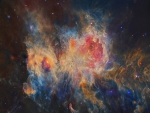 The Orion Nebula in Infrared from WISE