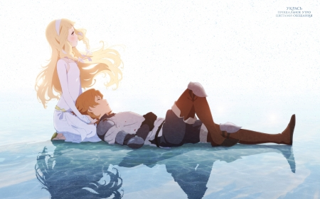 Maquia & Ariel - love, couple, anime, maquia, romance, manga
