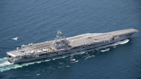 uss george bush - george, bush, aircraft, carrier, american, navy