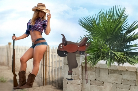 Cowgirl - beauty, country, cowgirl, picture, girl