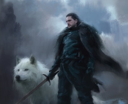 Jon Snow And Ghost Fantasy Abstract Background Wallpapers On Desktop Nexus Image 2452631