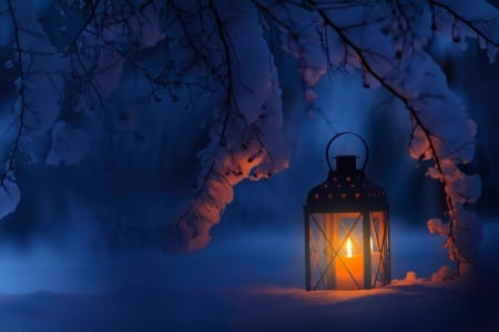 ♥ - abstract, lantern, light, winter
