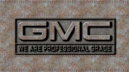 GMC Professional grade steel - General Motors Corperation, GMC Wallpaper, GMC Trucks Logo, GMC Truck Logo, GMC emblem, GMC, GMC Trucks