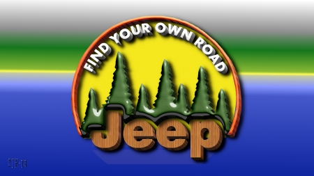 Jeep find your road 3D - Jeep Willys, Jeep logo, Jeep Background, Jeep emblem, Jeep Wallpaper, Jeep, Jeep AMC