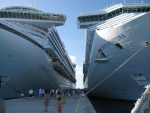 Costa Fortuna & Crown Princess docking