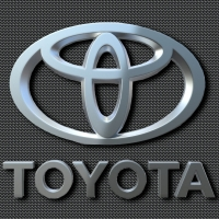 Chrome Carbon fiber Toyota Logo