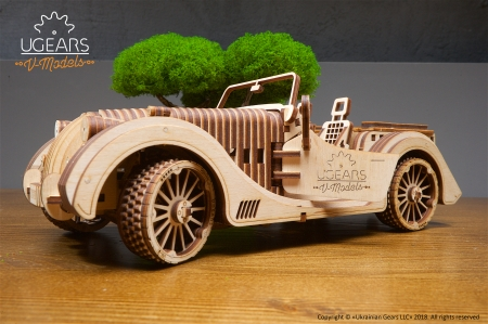 Ugears Roadster Model - games, uniquegifts, puzzle, educationalgames, mechanicaltoys, 3dpuzzle, mechanicalmodel, 3dmechanicalpuzzle, car, ugearsmodels, ugears, roadster, gifts, toys