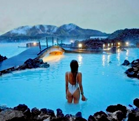 Blue Lagoon Iceland Winter Nature Background Wallpapers