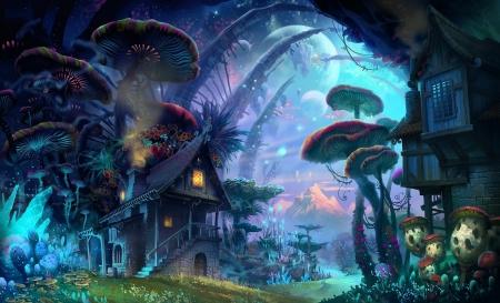 Fantasy Village Fantasy Abstract Background Wallpapers On Desktop Nexus Image 2454239