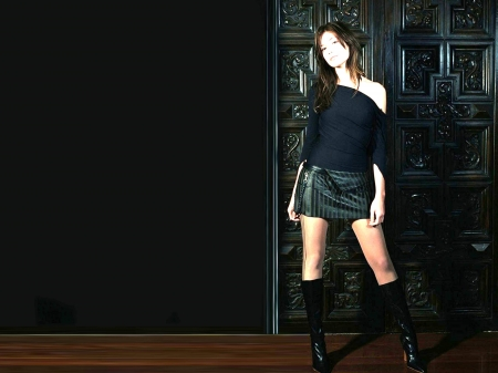 Mandy Moore - boots, legs, model, Mandy, skirt, Mandy Moore, beautiful, sexy, singer, 2019, stockings, actress, wallpaper, Moore, top