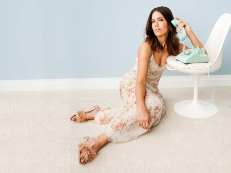 Mandy Moore - dress, slippers, model, Mandy, Mandy Moore, beautiful, singer, 2019, actress, wallpaper, hot, phone, chair, Moore