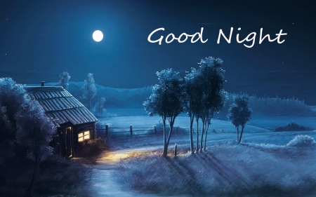Good Night Friend - facebook, good, night, winter, cover
