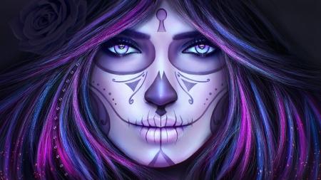 Magical Sugar Skull Woman Fantasy Abstract Background Wallpapers On Desktop Nexus Image 2455117
