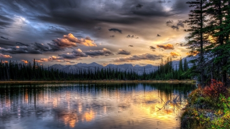 Sky Reflections - cystal, mountain, view, back, ground, nature, blue, lake