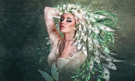 The Warmth Within - ethereal, digital, Elves, greens, beautiful, fairy, softness, fantasy, enchanting, magical