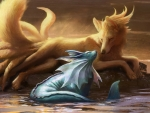 Vaporeon and Ninetales