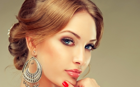 Pretty woman - Model, Jewellery, Girl, Makeup
