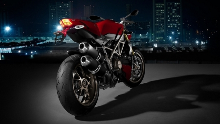 Ducati - motorcycles, red bikes, rear view, Ducati
