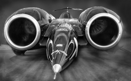 The Fastest Car in The World - record holder, jet, Fast, car, thrust