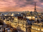 Paris at Morning Sunrise