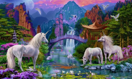 Magical land of unicorns fantasy abstract background wallpapers on desktop nexus image 2457066 - Magic land wallpaper ...