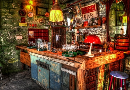 Ruin Bar - photography, apparatur, images, lamps, walls