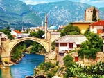 Old Bridge Over the Neretva River,Bosnia