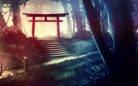 Torii Gate Other Anime Background Wallpapers On Desktop Nexus