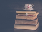 Books and cup of tea