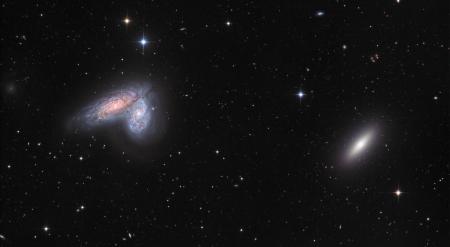 Twin Galaxies In Virgo Galaxies Space Background