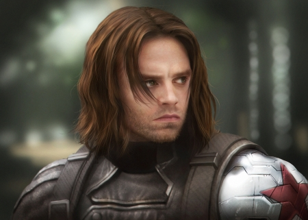 Winter Soldier - art, fantasy, luminos, winter soldier, meng xiangning, man, comics, Sebastian Stan