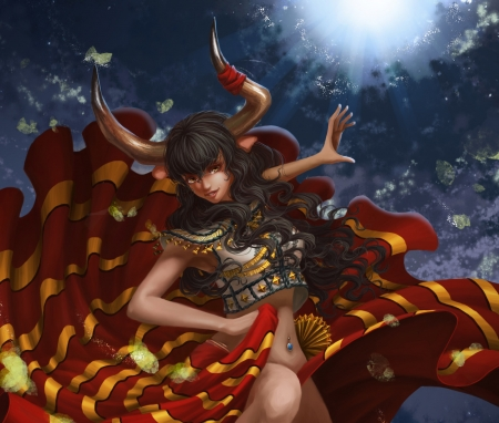 Chinese Zodiac ~ Ox - Fantasy & Abstract Background