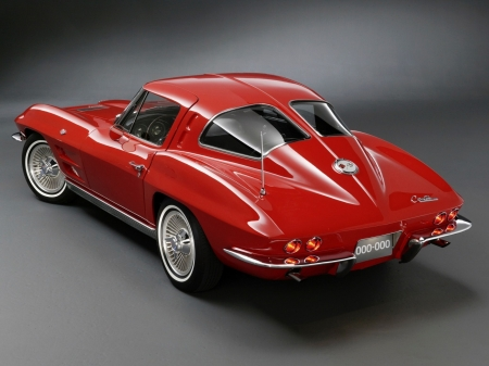 1963 Chevrolet Corvette - red, oldie, Car, fast, vintage