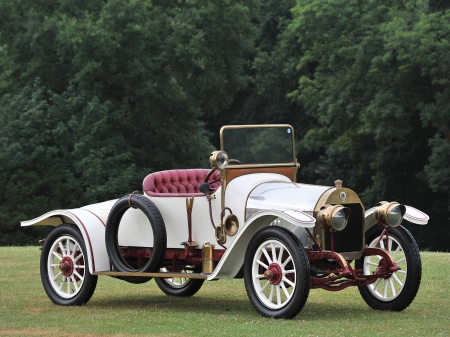 1913 mercedes benz 820ps roadster - benz, mercedes, roadster, vintage, grass