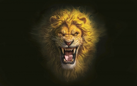 King of The Jungle - awesome, Lion, roar, animal, browns