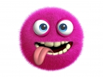 Crazy Eyed Pink Monster