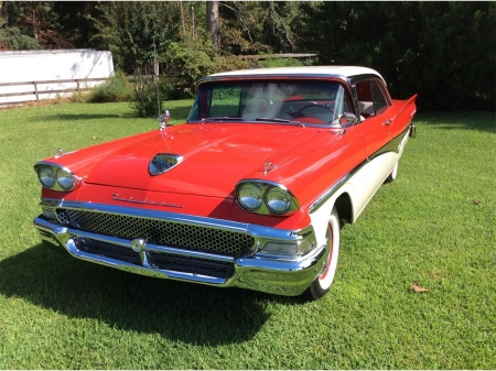 1958 Ford Fairlane 500 - Old-Timer, Red, Ford, Fairlane 500, Car