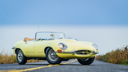 1966 Jaguar XKE Roadster - Old-Timer, Yellow, Sport, Cars, Roadster, Jaguar, XKE
