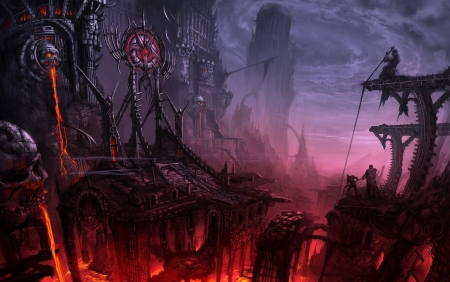 dark fantasy town - Fantasy & Abstract Background Wallpapers