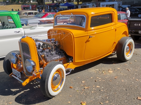 Coupe - rod, coupe, custom, orange, car