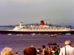 The QE2 At Greenock - Scotland (July 1990)