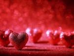 Red Sparkle Hearts