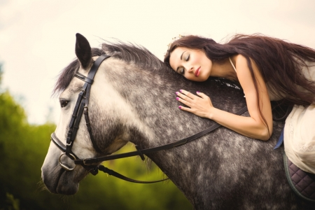 My Dear Friend . . - cowgirl, ranch, horses, outdoors, brunettes, friends, style, western
