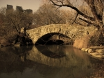 Stone bridge in sepia